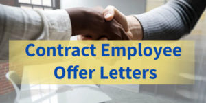 Contract employee offer letter samples