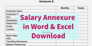 Salary Annexure Format
